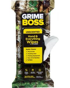 Grime Boss Realtree Unscented Textured/Soft Wipes 24Ct Wipes