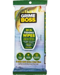 Grime Boss Fishing Wipes Citrus Scented 24 Count Wipes