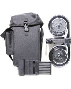 Iver Johnson Magazine Ar15 .223 100rd Drum Blk/clear Poly