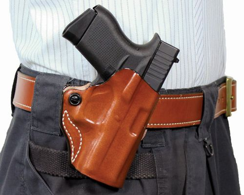 Desantis Mini Scabbard Holster Rh Owb Leather Ruger Lcp Ii T