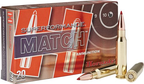 Hornady Ammo Match  308 Win 168gr  Eld Match Spf 20-pack