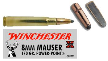 Winchester Ammunition Ammo Super-X 8x57 Mauser 170Gr  Power Point 20-Pack