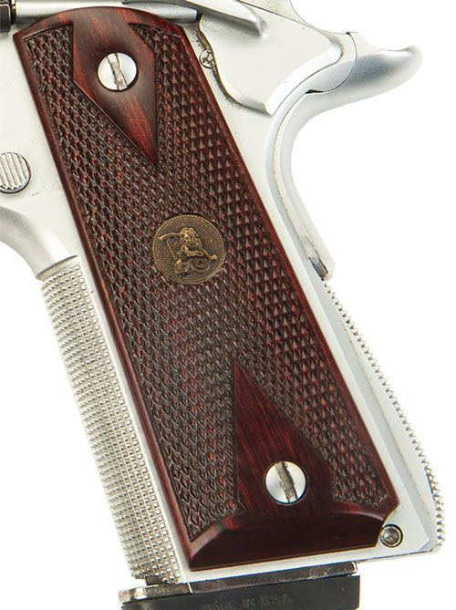 Pachmayr Rosewood Grips 1911 Half Checkered
