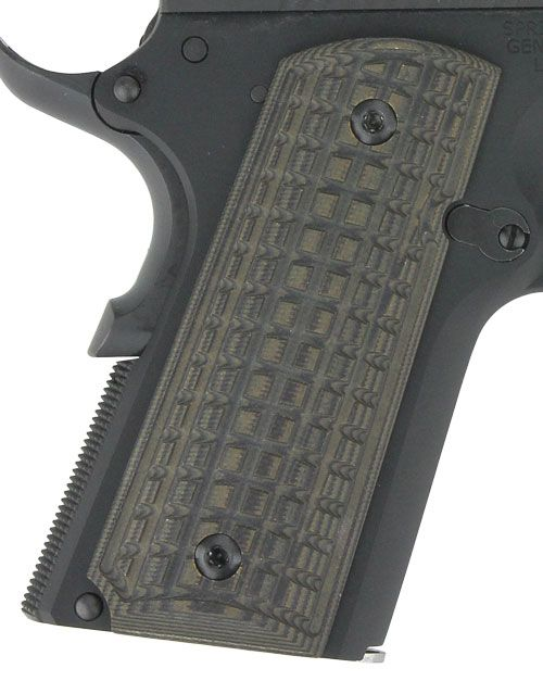 Pachmayr Dominator G10 Grips Cz75 Compact Grn/blk Grappler