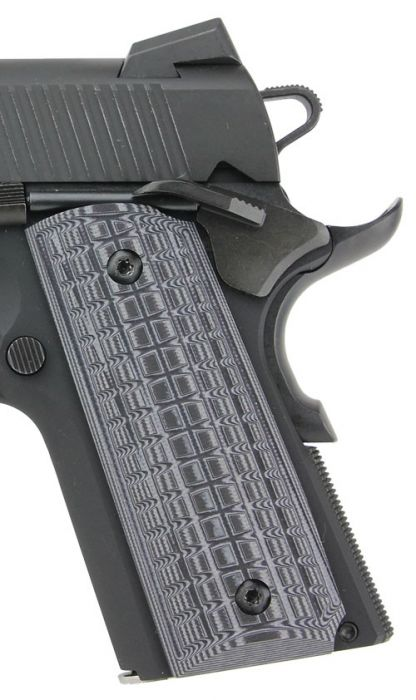 Pachmayr Dominator G10 Grips 1911 Officer Gry/blk Checkered