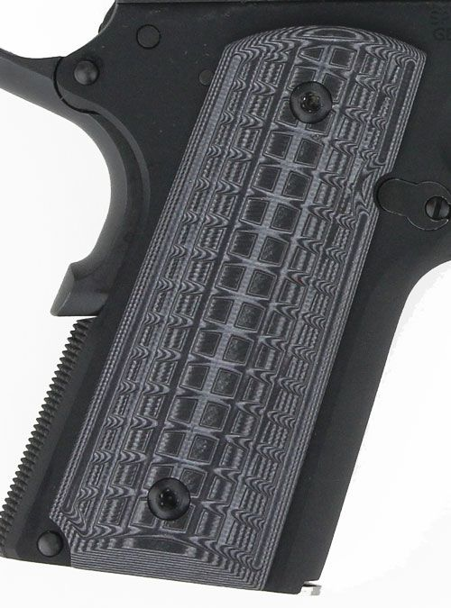 Pachmayr Dominator G10 Grips 1911 Officer Gry/blk Grappler
